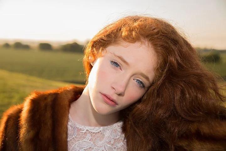 Brown eyes + red hair