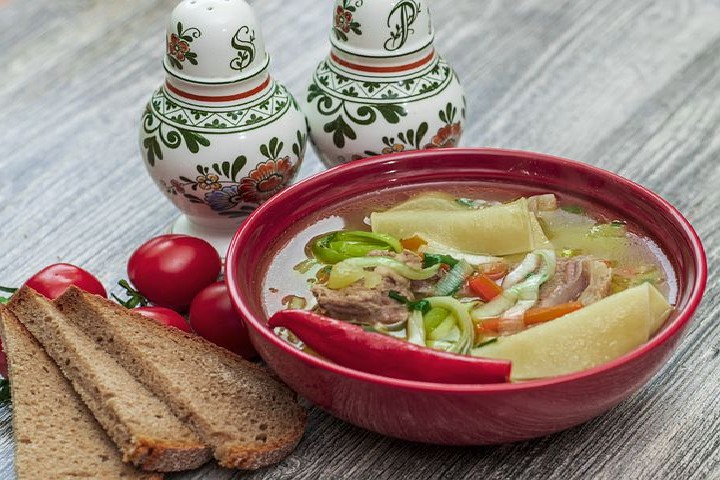 cured with chicken soup