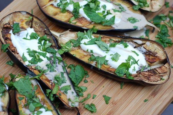 Eggplant And Hummus Timbale