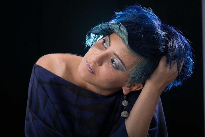 blue hair colours
